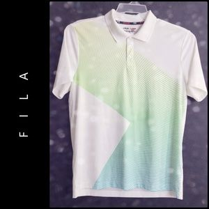 Fila Men Short Sleeve Athletic Fit Golf Polo Shirt
